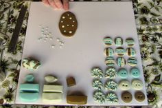 Polka Dot polymer clay buttons