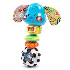 VTech baby rattles are great baby toys and baby gifts. Shake to the music with the Rattle and Sing Puppy by VTech! Your little one will love holding this easy-to-grasp rattle and shaking it to see the...