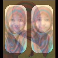 gueee :)  #rainbow #hijab #3d #me #2instawithlove