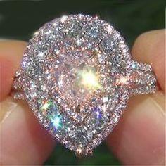 Pink Diamond Engagement Wedding Ring