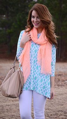 Slouchy Caftan, Mint Ikat :: NEW ARRIVALS :: The Blue Door Boutique