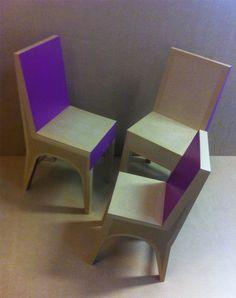 chaises en carton