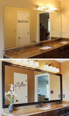 Bathroom Mirror Makeover bellemeade vintage silver | walls and house