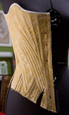 American Duchess: 1780s Half-Boned Stays- curving seams