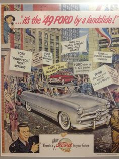 1949 Ford vintage ad