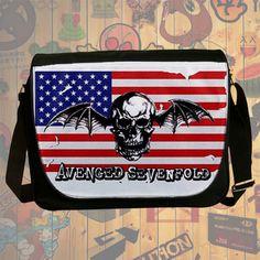 NEW HOT!!! Avenged Sevenfold Messenger Bag, Laptop Bag, School Bag, Sling Bag for Gifts & Fans #05
