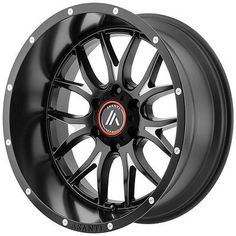 4-NEW Asanti Off Road AB807 20x9 6x139.7/6x5.5 +40mm Black/Milled Wheels Rims