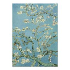Almond Blossoms by Vincent Van Gogh Custom Invite