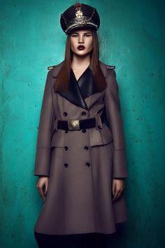 "Rumours Magazine. ""Military Glam"" photographed by Stefan Dani ft. Marina Cebotari @ Mandarina Models."