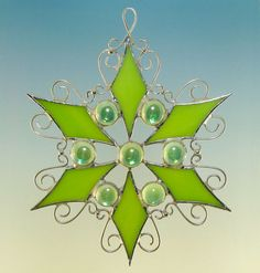 stained glass filigree snowflake