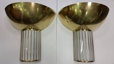 Pair of Art Deco Wall Lights | From a unique collection of antique and modern wall lights and sconces at https://www.1stdibs.com/furniture/lighting/sconces-wall-lights/