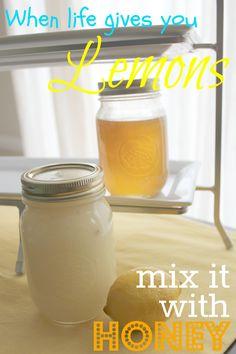 Honey Lemon Sugar Face Scrub. I need to put my leftover sugar to good use!