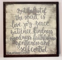 Galatians 5: 22-23 Scripture Hand Painted by ktmichelledesigns