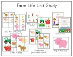 Multiple Farm printables in one spot.