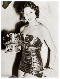 Antigone Costanda; The Only Egyptian woman to win Miss World - London In 1954 [A]