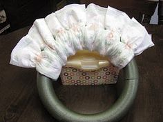 Diaper Wreath Tutorial