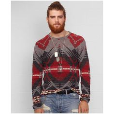 This eclectic sweater is crafted from lightweight cotton and features an earthy southwestern-inspired design. Cotton. Hand wash. Imported. Denim supply ralph lauren men's sweater. Ribbed crew neckline. Long sleeves with ribbed cuffs. Ribbed hem...