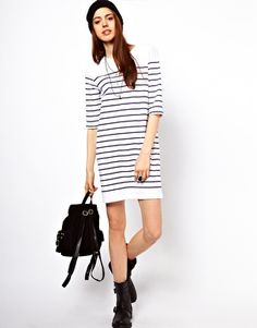 Image 4 of Just Female Striped Dress