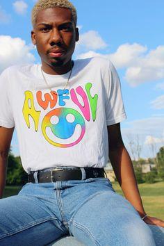 Awful Tie-Dye T-Shirt Tie Dye T Shirts, 30 And Single, Cotton, Mens Tops, Collection, Women, Fashion, Tie Shirts, Moda