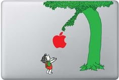 We just love this MacBook decal. Works for an iPad too.
