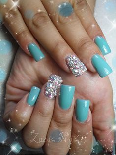 Bling bling. Crystals and green mint