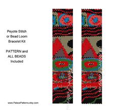 KIT for PP143 Tribal Bead Loom or Peyote Stitch Bracelet