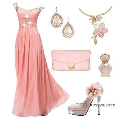 Salmony pink wedding outfit