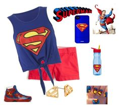 """""""Superman"""" by smith-1979 ❤ liked on Polyvore featuring Freaker, J.Crew, Noir and Zak! Designs"""