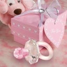 Crystal Pacifer Keychain Baby Shower Favour