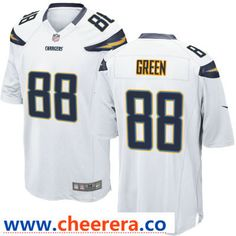 af0db70ac Men's Los Angeles Chargers #88 Virgil Green White Road Stitched NFL Nike  Game Jersey