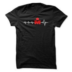 T Shirt IRONMAN Triathlon Graph Heart M
