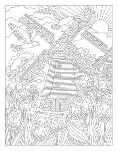 Антистресс раскраски для взрослых. Арт-терапия Coloring Book Pages, Coloring Sheets, Colorful Pictures, Vibrant Colors, Paper Crafts, Christian, Drawings, Free Worksheets, Dutch