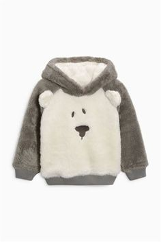 Buy Grey/Ecru Fluffy Bear Jumper (3mths-6yrs) online today at Next: United States of America