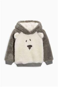 Buy Grey/Ecru Fluffy Bear Jumper (3mths-6yrs) online today at Next: United States of America