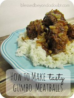 These easy, but delicious gumbo meatballs will definitely satisfy your hungry family. We love these meatballs served over rice. I like to use the leanest ground beef that I can find to avoid the extra grease. If you don't have lean ground beef, you can always just drain the grease after baking in the oven. These delicious gumbo meatballs are so simple and can be made ahead of time. Just make the meatballs and freeze them. Then on cooking day,  {Read More}