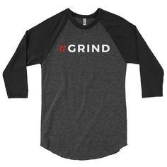 Hashtag Grind Baseball 3/4 Sleeve Shirt