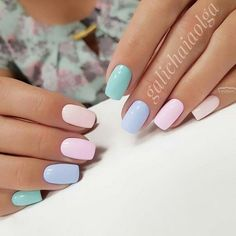 41 Classy Chic Nail Art Design for Summer Pastel Nails - Nail Designs Chic Nail Art, Chic Nails, Stylish Nails, Fun Nails, Classy Gel Nails, Trendy Nails 2019, Classy Nail Art, Spring Nail Art, Spring Nails