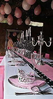 #Barbie Party table settings