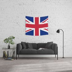 Grungy British Union Jack Design Art Wall Hanging Tapestry by Sharlesart - Small: x