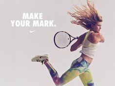 Make your mark. #NikeTennis #GenieBouchard
