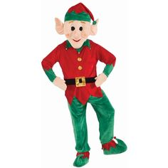 Christmas Elf Mascot ($96) ❤ liked on Polyvore featuring home, home decor, holiday decorations, christmas elf, halloween costumes, christmas holiday decorations, christmas holiday decor, halloween home decor and christmas home decor