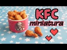 HAZ POLLO KFC MINIATURA! / Manualidades Kawaii /Comida Miniatura Porcela...