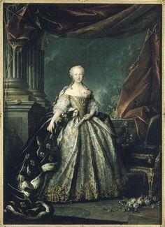 1745 Maria Teresa Rafaela of Spain by Louis Tocqué (Versailles)