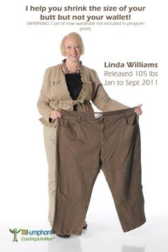Linda Williams #100 Pound Club    You too can be on your way to better health..  http://4amazingresults.isagenix.com