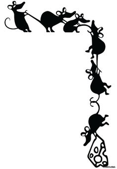 Adorable Climbing Mice Stealing Cheese Whimsical Vinyl Wall Decal Sticker Ratty  | eBay