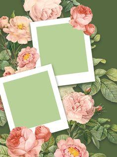 Flower Background Images, Frame Background, Flower Backgrounds, Yellow Flower Photos, Instagram Frame Template, Photo Collage Template, Wedding Frames, Grafik Design, Flower Frame