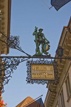 Inn Sign - Lucerne, Switzerland - by ianhb