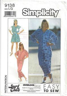 6cb026bd56c 1980s Loose Jumpsuit Playsuit Baggy Front Button Long Short Sleeves Dropped  Shoulders Patch Pockets Plus Size Easy McCalls 9138 Large 18 20