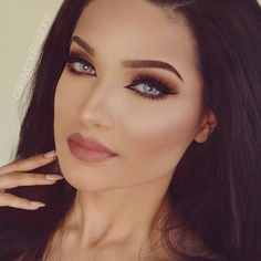 """""""Super easy and quick neutral glam✨ Take only 10 minutes! Pair it with a nice dark or nude lipstick✨ Lips: lipstick Nude Eyes:…"""" Sexy Makeup, Gorgeous Makeup, Beauty Makeup, Makeup Looks, Hair Makeup, Flawless Makeup, Perfect Makeup, Natural Contact Lenses, Gerard Cosmetics"""