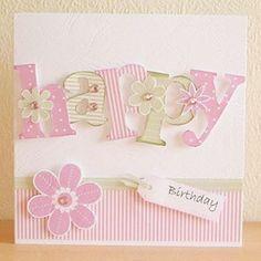 Happy Birthday. Pink Petticoat : Customer Cards - Kath Stewart